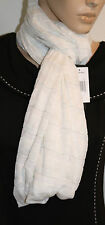 STEVE MADDEN White With Metallic Lightweight Infinity 35 X 29 Scarf NEW