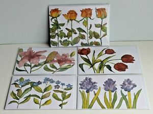 Selection of 5 Beautiful Emma Ball Floral Greetings Cards Envelopes New Sealed