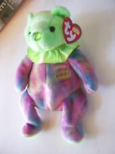 Ty August Birthday Tie Dyed Beanie Bear Collectible