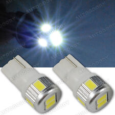 2 x Super White LED License Plate Light Bulbs 168 194 2825 T10 Bright