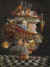 James Christensen THE BURDEN OF THE RESPONSIBLE MAN art print #356/850