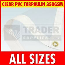 Glass Clear Heavy Duty PVC Tarpaulin Market Stall Cover Chicken Run Garden DIY