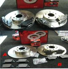 Alfa 156 SportWagon 1.8 TS 01-05 Front Brake Discs Drilled Grooved Black Edition