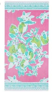 NWT Lilly Pulitzer Pottery Barn Pool Towel in Pink Lemonade UPF 50+