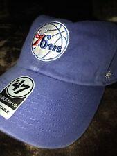 989cc363f6adf Philadelphia 76ers  47 Brand Clean Up Adustable Hat Cap Blue