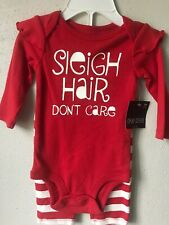 Okie Dokie 3M Baby Girl2 Pc Set Red Outfit Brand New W/Tags