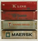 Athearn/Walthers HO Scale 40 Containers weathered to a high standard