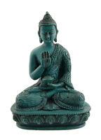 Soprammobile Tibetano Budda Amoghasiddhi Dhyani IN Resina 11cm Turchese - C9