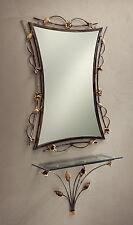 Specchio con consolle in ferro battuto dipinto a mano BELL SP/300 - CO/400