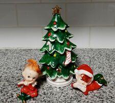 New ListingChristmas Napco Lefton Figurines and Christmas Tree