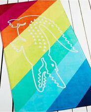 NWT Lacoste Crocostripe X-Large 36x72 Beach Towel Pink Blue Green