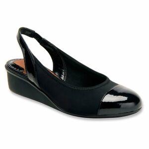 Ros Hommerson Women's Emma Wedge Sandals, Black, Size 10.5 yByl