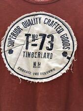 Timberland Men's T Shirt Size UK XL In A Rust Colour - 100% Organic Cotton