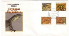 1983 FDC Australia. Reptiles & Amphibians. Animal Series 2 Various FDI postmarks