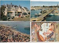 Lot de 4 cartes postales anciennes ARCACHON 3