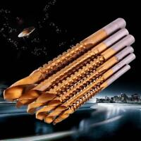 6pcsTitanium HSS Drill Saw Bit Set Slot Cutting Wood Metal 3-8mm Hole Cutting FT