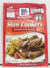McCormick Slow Cookers Savory Pot Roast Seasoning Mix 1.3 oz (3 Pack)