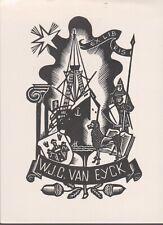 ex-libris W.J.C VAN EYCK