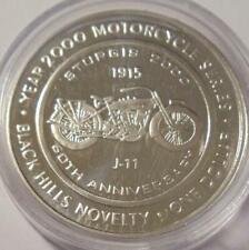 DEADWOOD BLACK HILLS Mt Rushmore 60TH STURGIS 2000  Solid Silver  ~1915 J-11~