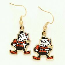 CLEVELAND BROWNS EARRINGS BROWNIE ELF BRAND NEW FREE SHIPPING!