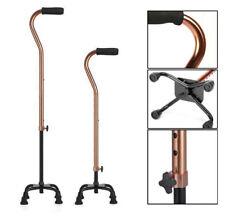 Quad Cane Small Base Bariatric 500lbs Folding Walking Stick Aid Medical Mobility