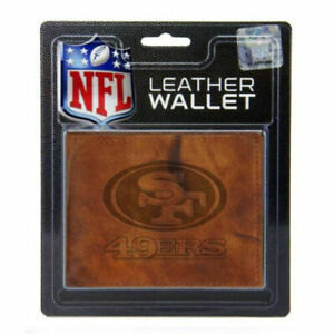 San Francisco 49ers STANDARD Authentic Embossed Leather Billfold Wallet NWT