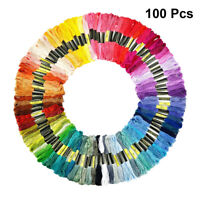100pcs Cross Stitch Cotton Sewing Embroidery Thread Floss Kit DIY Sewing Tools