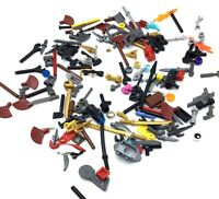 LEGO LOT OF MINIFIGURE ACCESSORIES TOOLS WEAPONS ITEMS MIX HOLDABLE SWORDS MORE