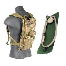 Lancer Tactical Lightweight Hydration Pack H2O Water Carrier w/2.5L Bladder Camo