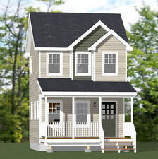16x16 Tiny House -- 463 sq ft -- PDF Floor Plan -- Model 11