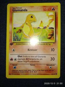 Pokémon Karte Glumanda 1. Edition Base Set 46/102 Deutsch NM-M PSA ? TCG Pokémon