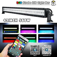 560w 42Inch Led light bar with RGB halo ring offroad Driving lights Foglights 40