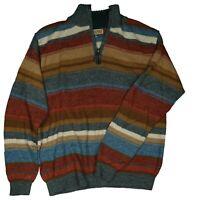 WALIKI Herren Pullover handmade in Bolivia 100% Alpaca Hair Strickpullover Gr.M