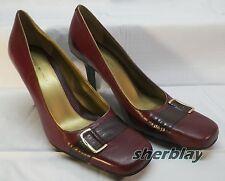 Vintage Bandolino BD Forever Leather Upper Pump Heel Shoes sz 9 1/2 M