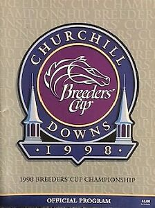 Breeders' Cup '98 Program from Churchill Downs