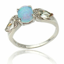 Opal Solitaire Costume Rings
