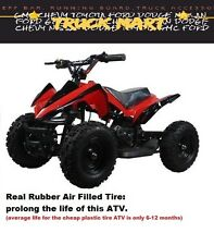 ATV Ride Red Quad Electric 4 Wheeler 2 Speed 24V Battery Power Toy For Kid