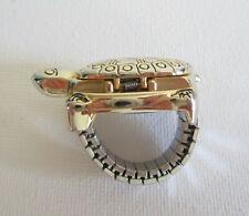 Finger-Uhr Ringuhr mit Deckel Schildkröte