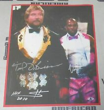 Ted DiBiase & Virgil Signed 15x19 Event Used Banner Photo BAS Beckett COA WWE