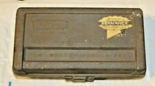 "Vintage CRAFTSMAN 1/4"" SOCKET WRENCH SET 11pc w/ Permanex Case Crown Logo"