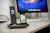 iCreation I-650 DECT Smart Cordless Phone with Bluetooth & iPhone connection