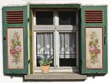 Puppenstube Puppenhaus 4 Fenster Atrappe Fassade selbstklebend Landhaus Vintage