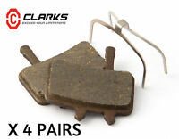 AVID JUICY 3-5-7-CARBON--BB7 Disc Brake Pads Organic Clarks 4 Pairs