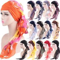 Muslim Chemo Turban Hat Headwear Women Long Hair Head Scarf Wraps Cancer Cap Lot