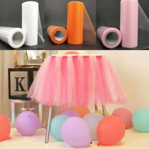 Solid Color Tulle Roll 25 Yards 6'' Spool Tutu DIY Wedding Home Party Decoration