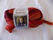 Red Heart Boutique Sashay Ruffle Scarf Yarn Salsa Shades of Red 30 yds 3.5 oz