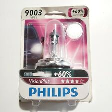 Philips 9003 VisionPlus Upgrade HeadLight Bulb +60% more Light- 1 Pack #9003VPB1