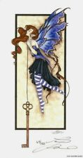 """Amy Brown Keeping The Secret Key Faeries Fairy Faery LE 5.5x11"""" Print Retired"""