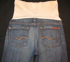7 for all Mankind Pea in Pod Maternity Jeans Bootcut Secret Fit Wide Panel Sz 25