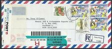 MALAYSIA 1993 Registered airmail cover to New Zealand ex PULAU PINANG......13273